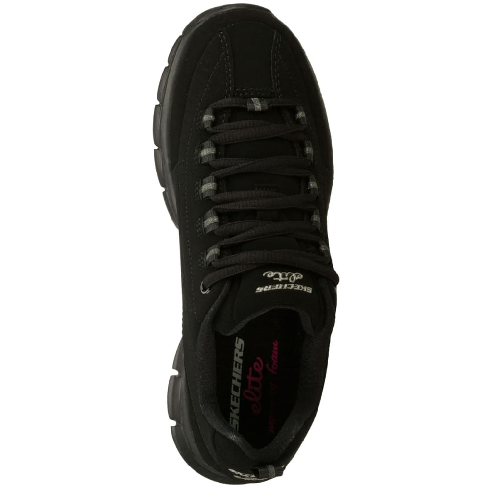 SKECHERS Women's Synergy-Trend Setter Shoes, Wide Width - BLACK