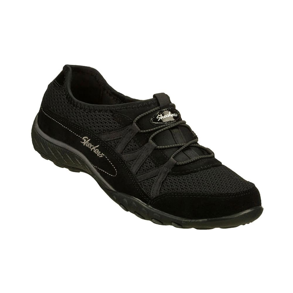 SKECHERS Women's Relaxed Fit: Breath Easy – Relaxation Shoes - BLACK