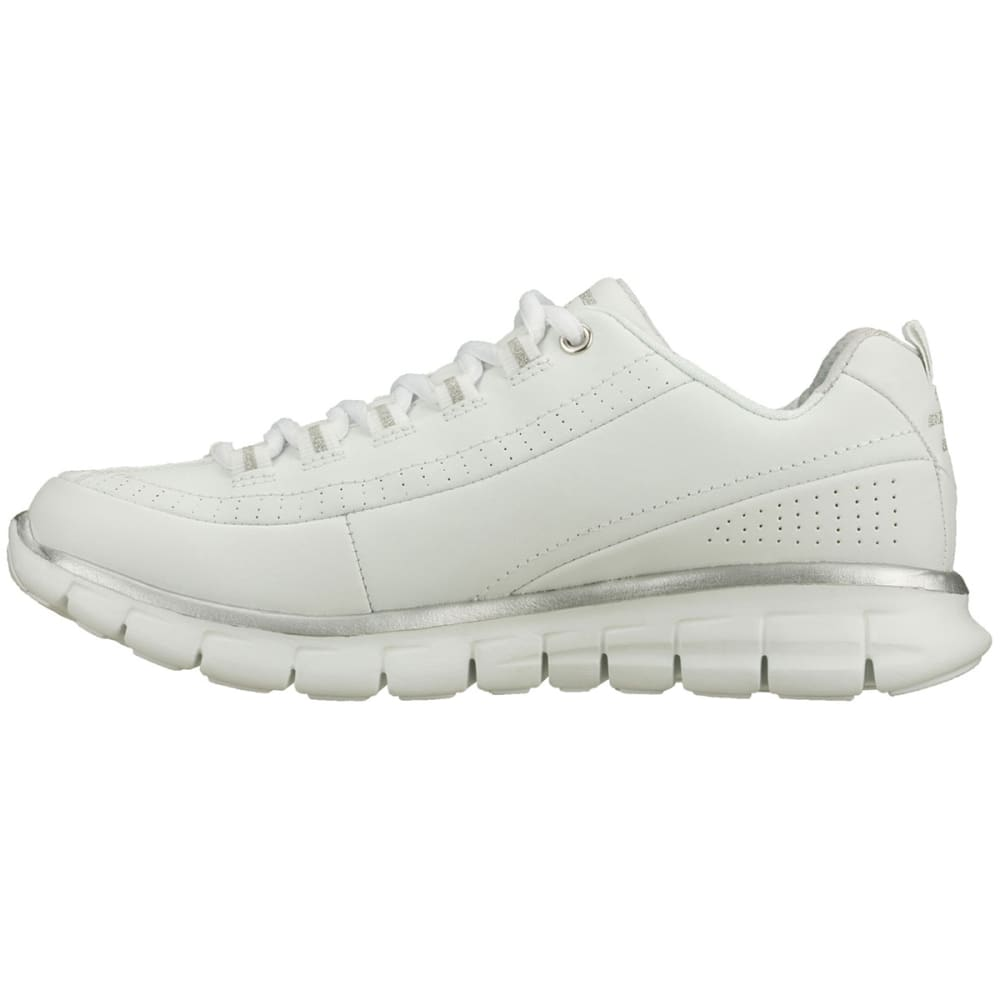 SKECHERS Women's Synergy-Elite Status Walking Shoes, Wide Width - WHITE