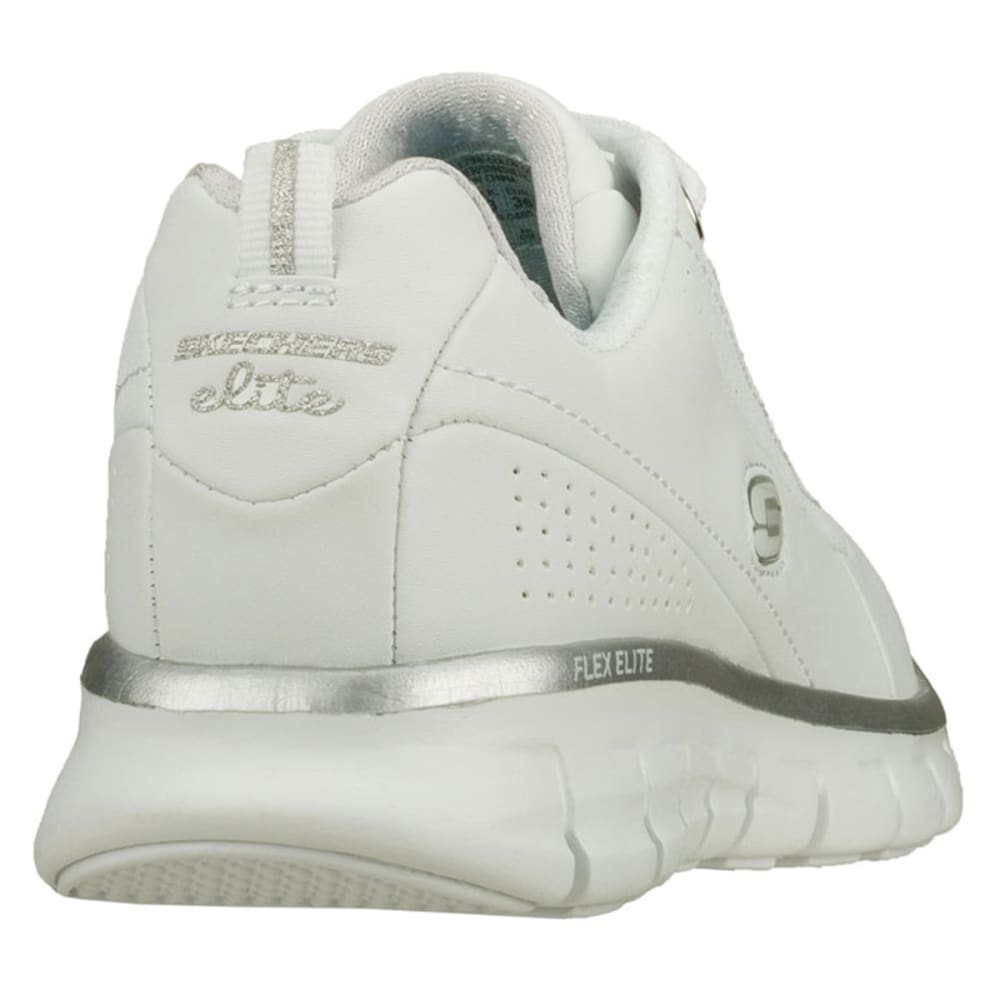 SKECHERS Women's Synergy-Elite Status Walking Shoes, Medium Width - WHITE