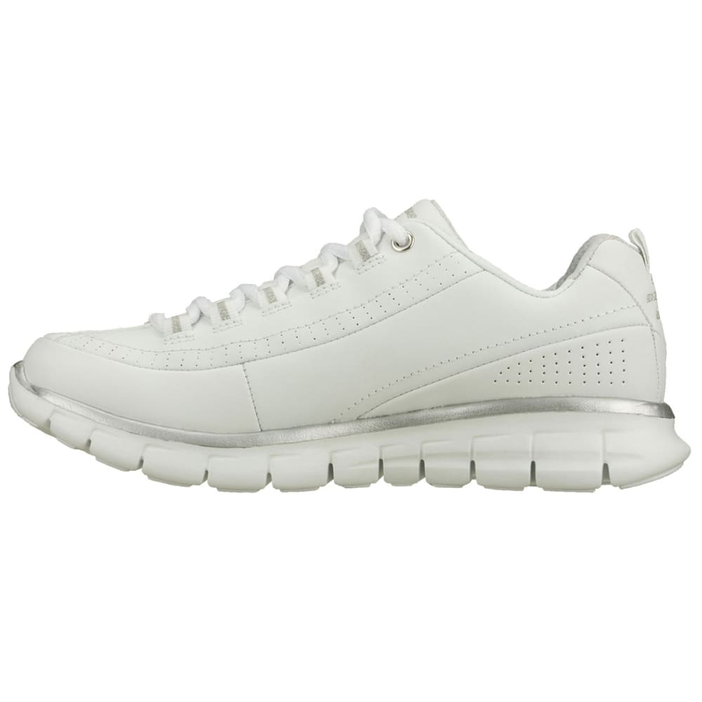 SKECHERS Women's Synergy-Elite Status Walking Shoes, Medium Width - WHITE