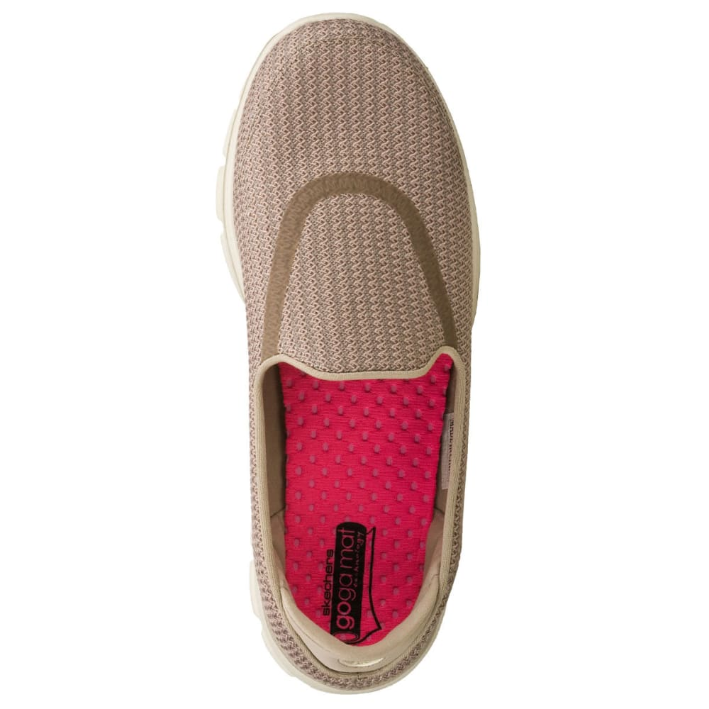 SKECHERS Women's GOWalk Slip On Athletic Shoes - STONE