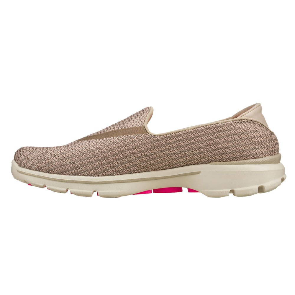 SKECHERS Women's GOWalk Slip On Athletic Shoes - STONE