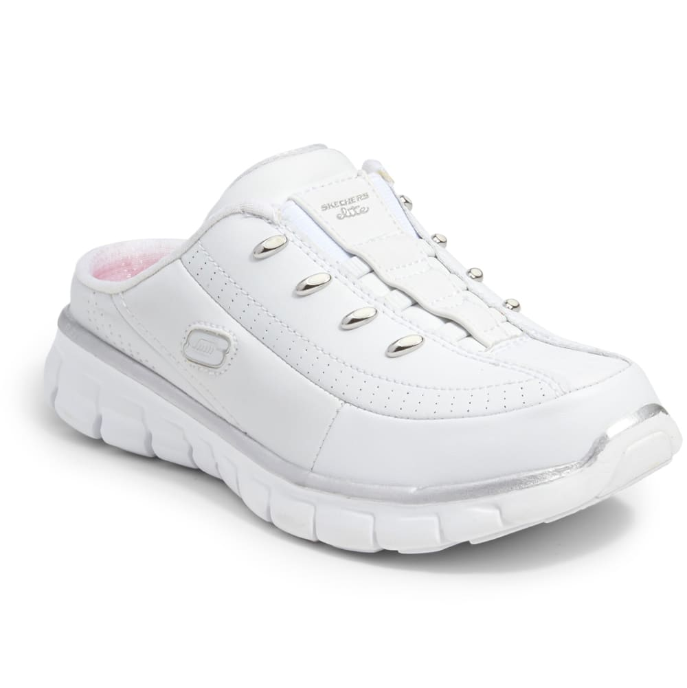 SKECHERS Women's Synergy-Elite Glam Slip On Shoes - WHITE
