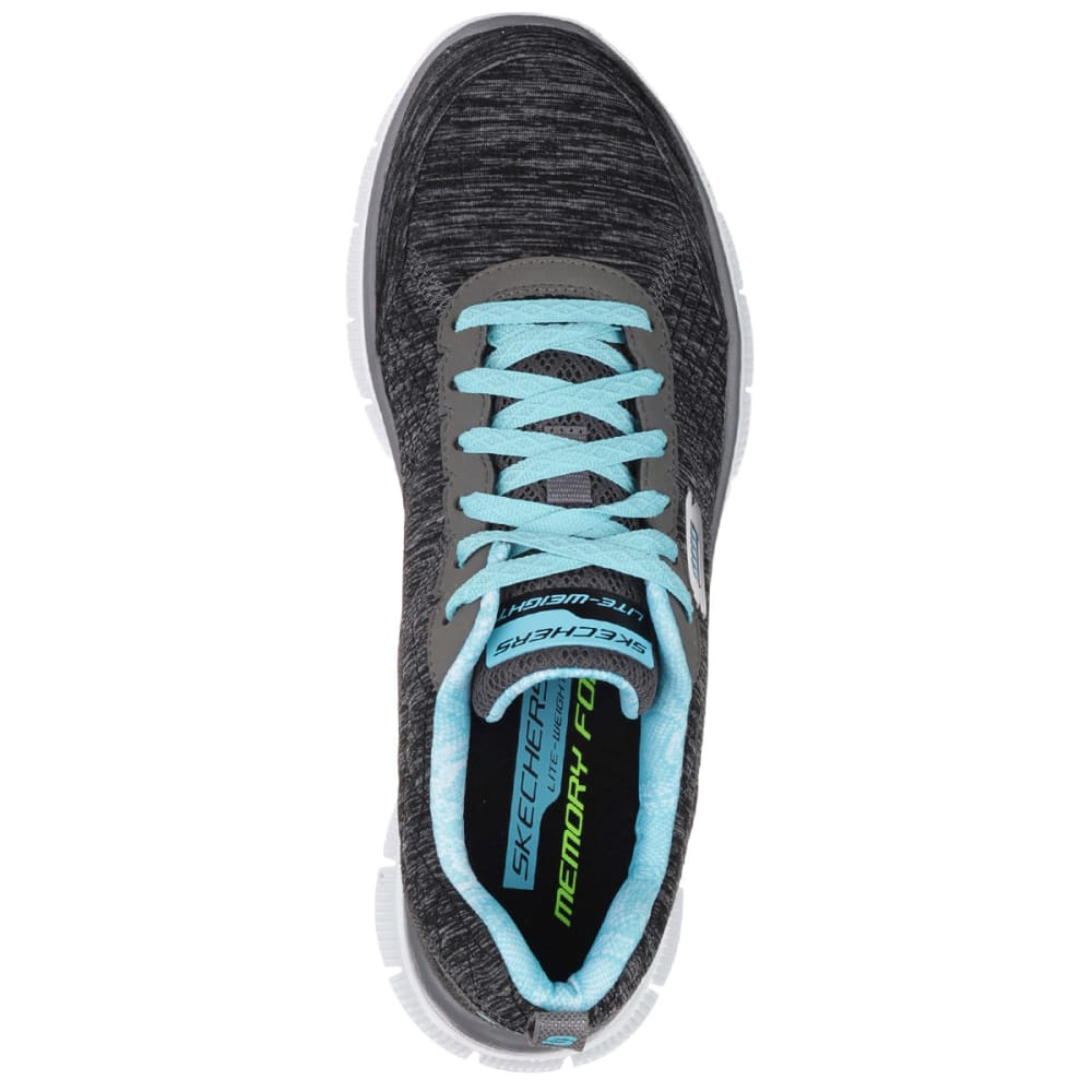 SKECHERS Women's Sport Flex Appeal Pretty City Sneakers - BLACK