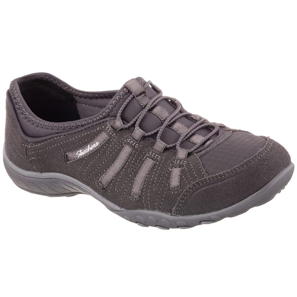 SKECHERS Women's Relaxed Fit® Breathe Easy Big Bucks Shoes - CHARCOAL