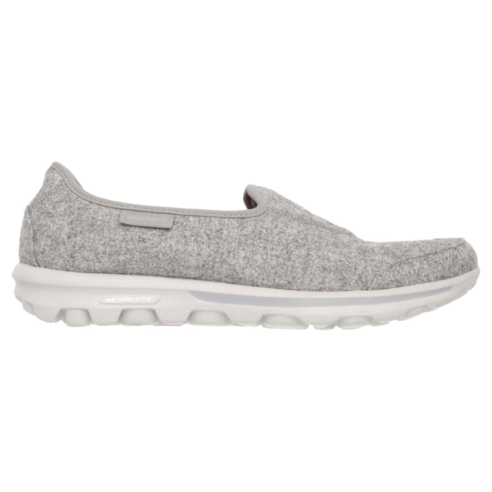 SKECHERS Women's GOwalk Compose Slip-On - CARBON HEATHER/VENEE