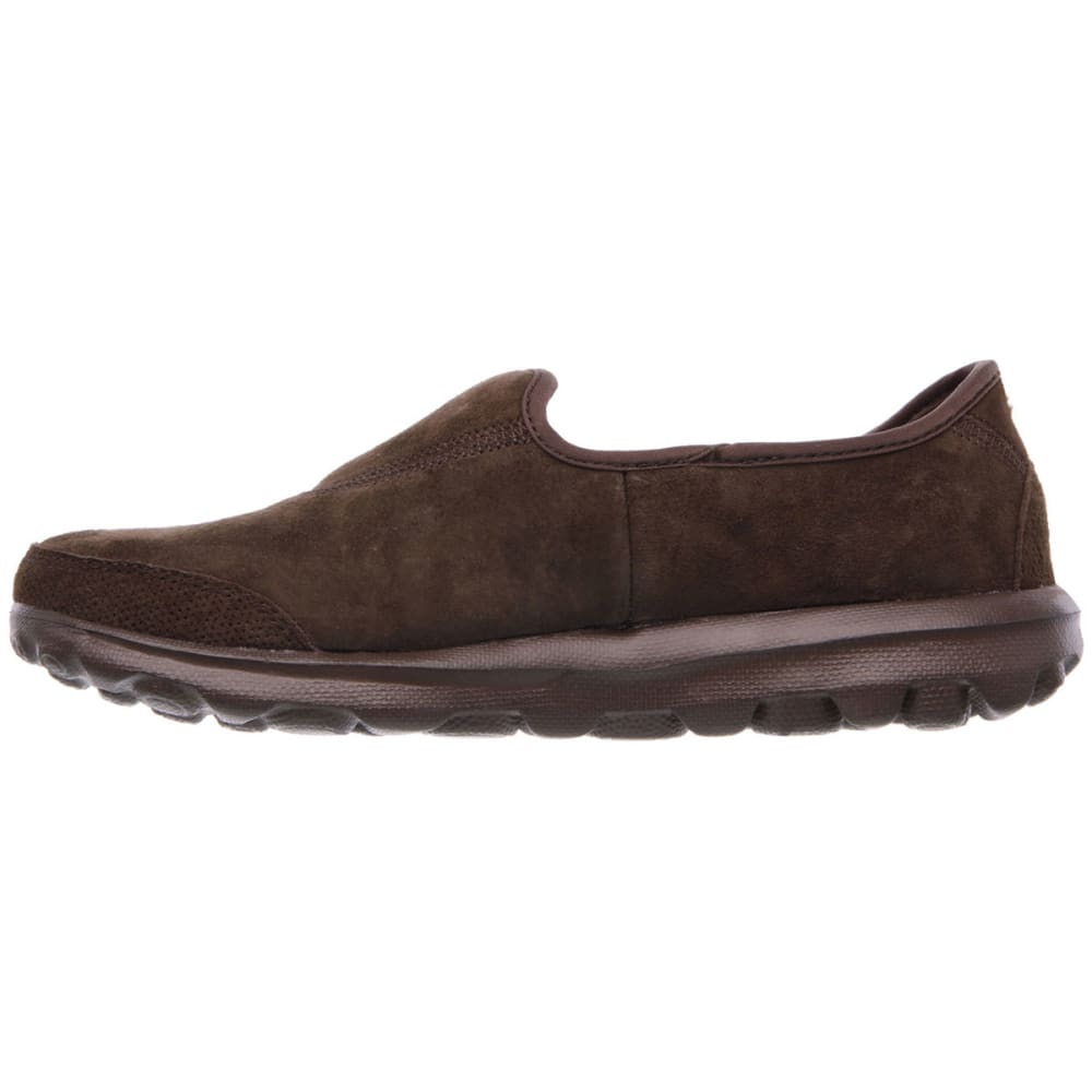 SKECHERS Women's GOwalk Winter Slip-On - CHOCOLATE/BRONZE