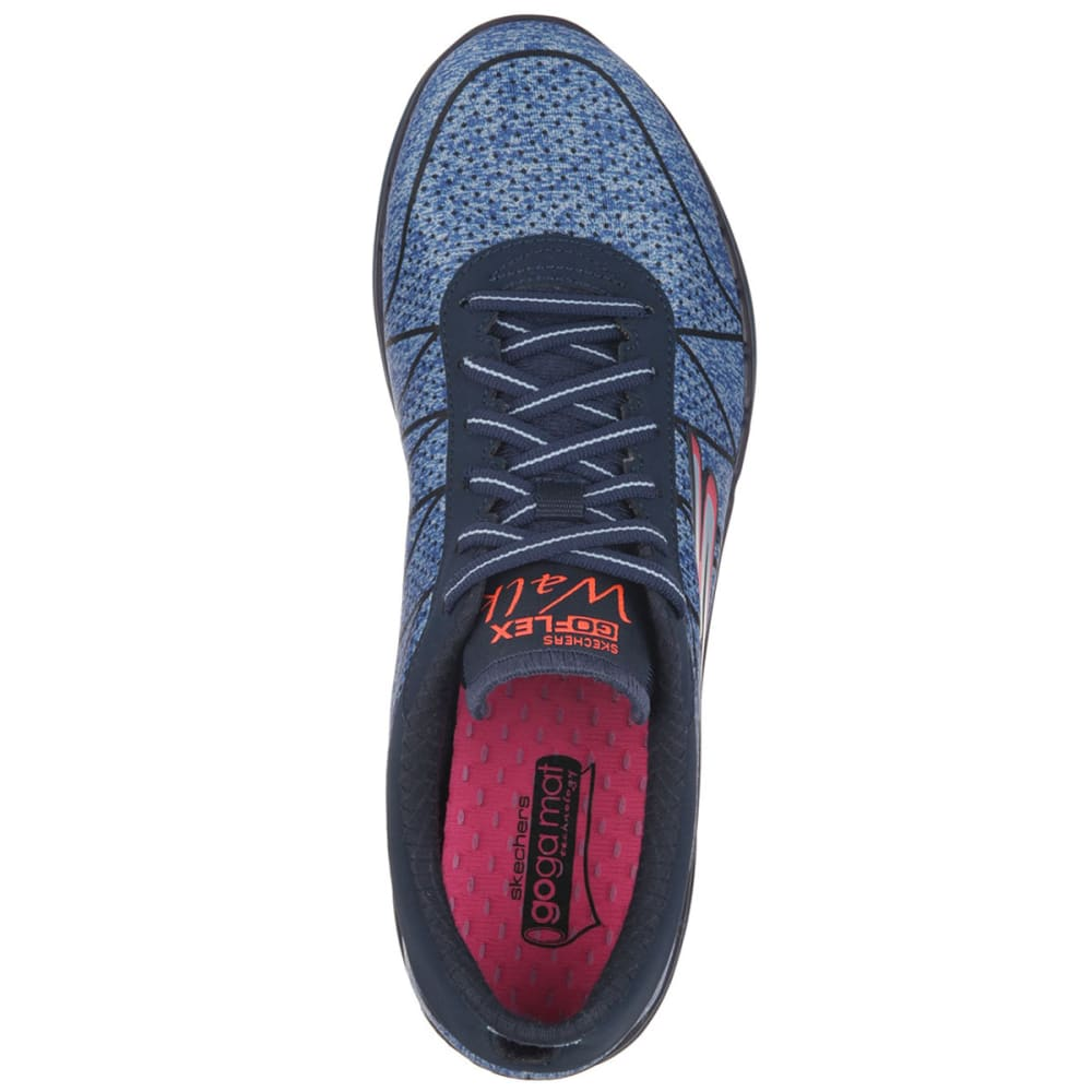 SKECHERS Women's Go Flex Lace Up Sneakers - NAVY HEATHER/OXFORD