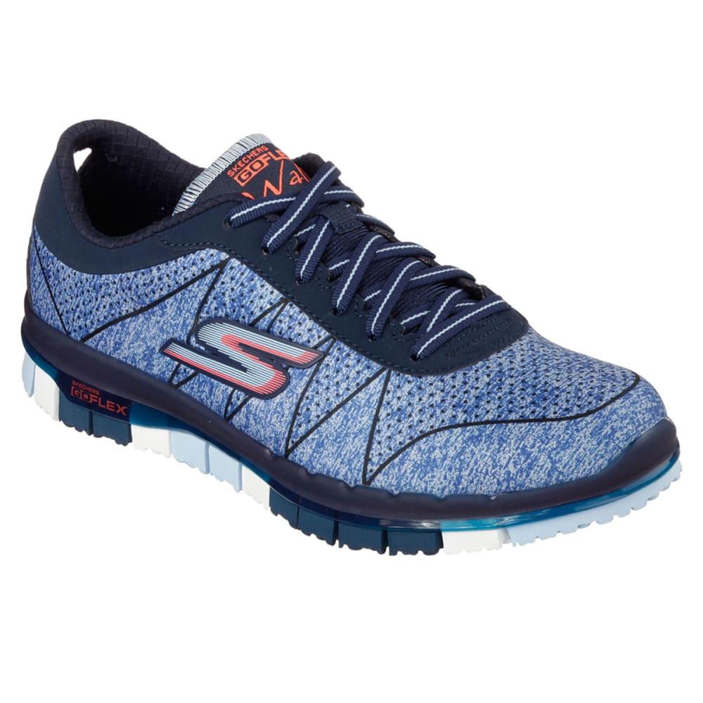 SKECHERS Women's Go Flex Lace Up Sneakers - NAVY HEATHER/OXFORD
