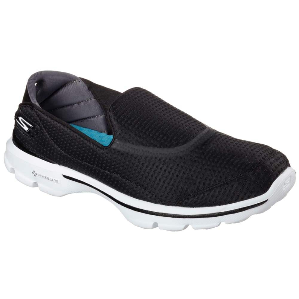 SKECHERS Women's GOwalk 3-Unfold Shoes - BLACK/NEPTUNE