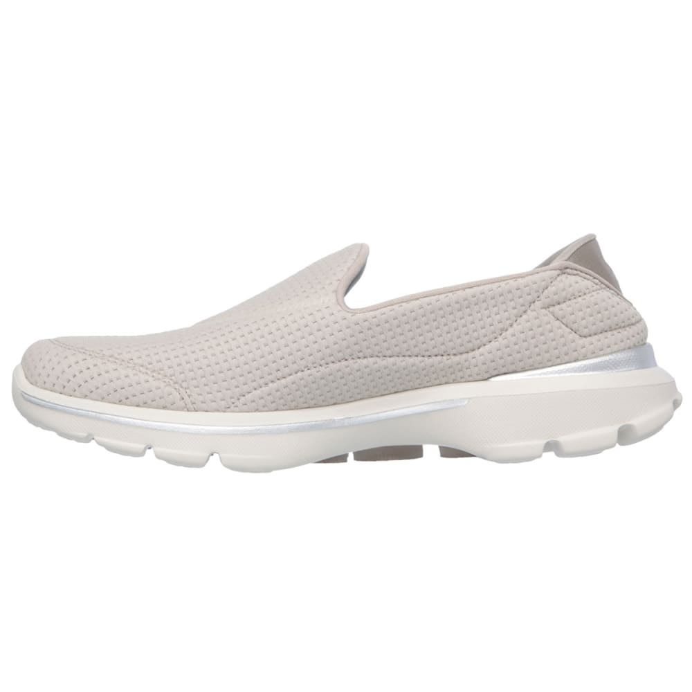 SKECHERS Women's GOwalk 3-Unfold Shoes - HEATHER OATMEAL