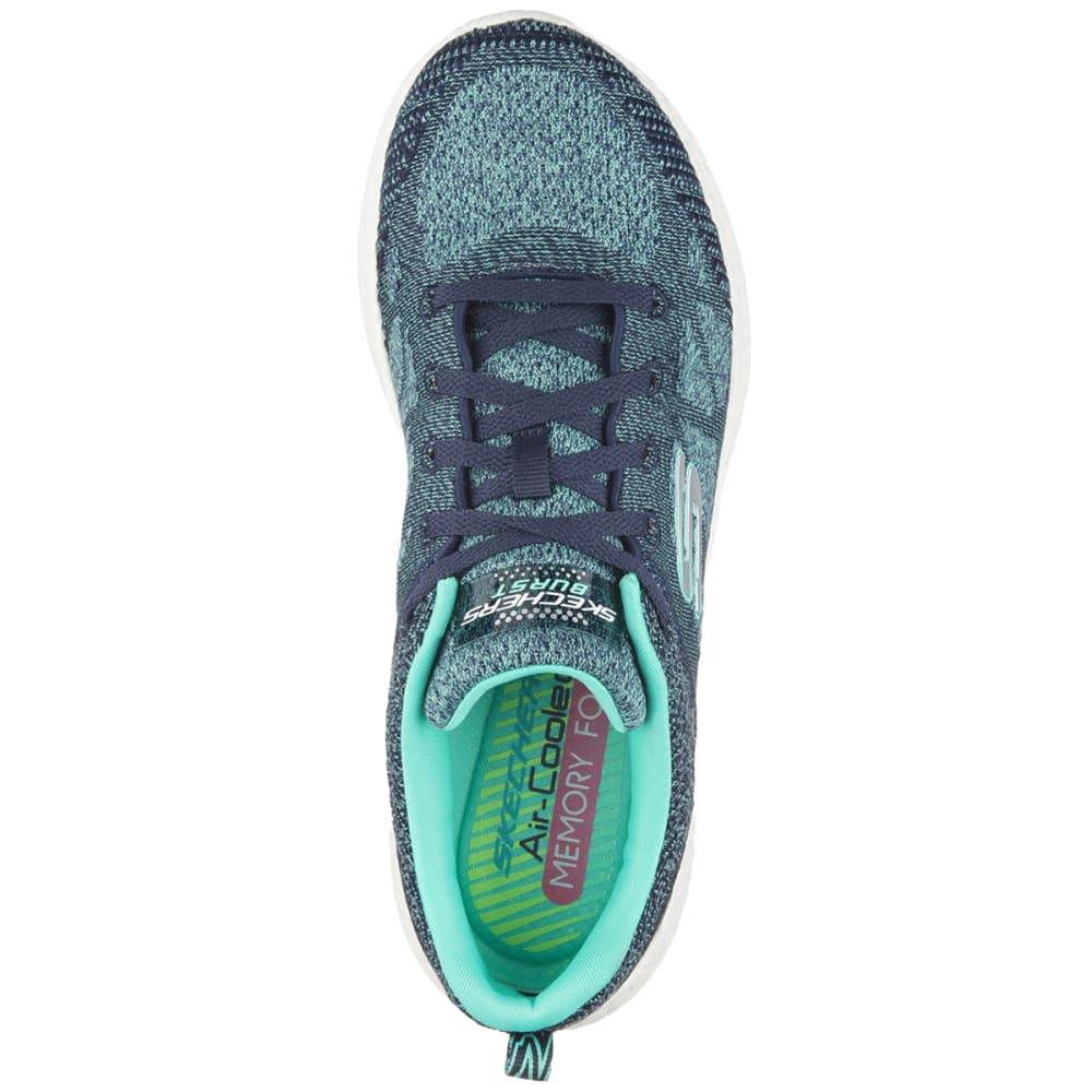 SKECHERS Women's Burst Sneakers - ANCHOR BLUE