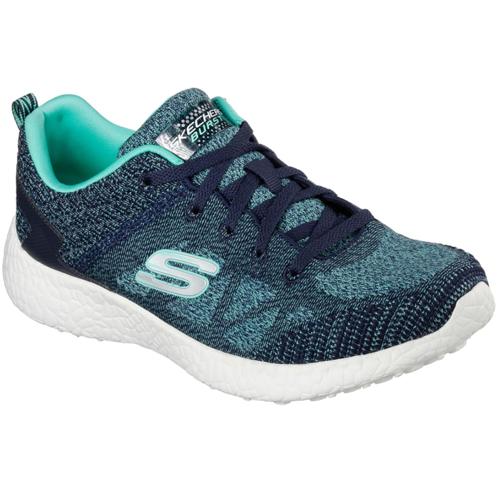 SKECHERS Women's Burst Sneakers - ANCHOR BLUE