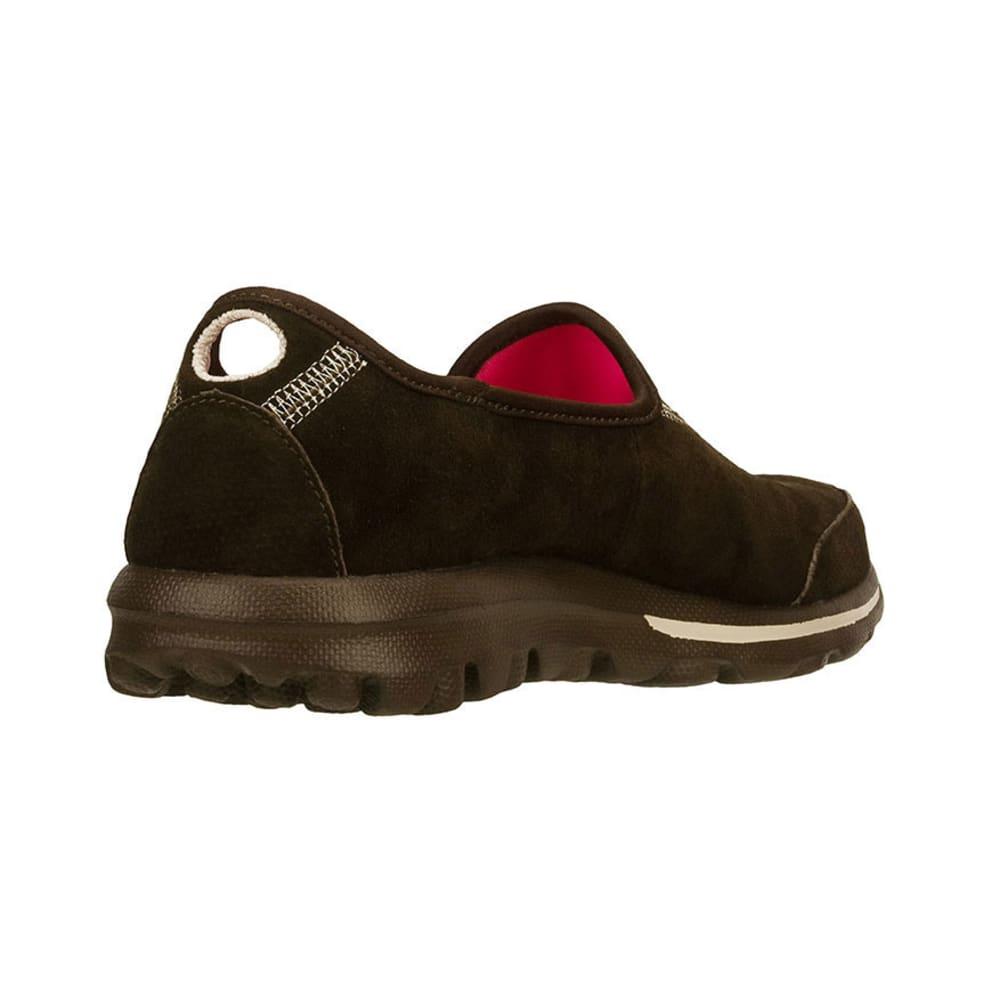 SKECHERS Women's GOwalk - Autumn Slip-On Sneakers - CHOCOLATE