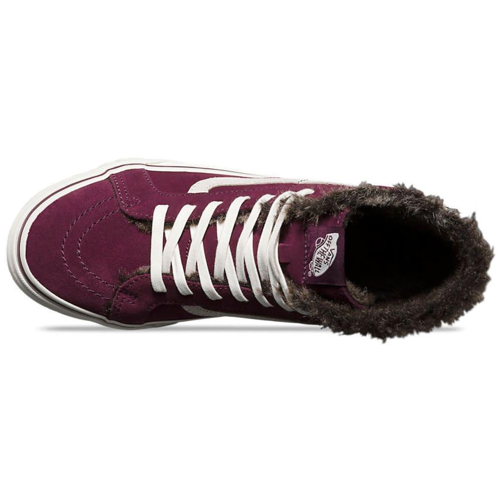 VANS Women's SK8 Hi Slim Fur Lined Shoes - FIG