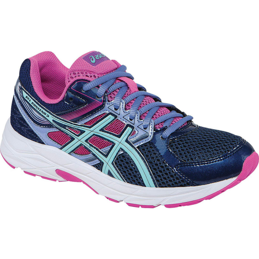 ASICS Women's Gel Contend 3 Running Shoes, Medium Width - INDIGO/AQUA/PINK