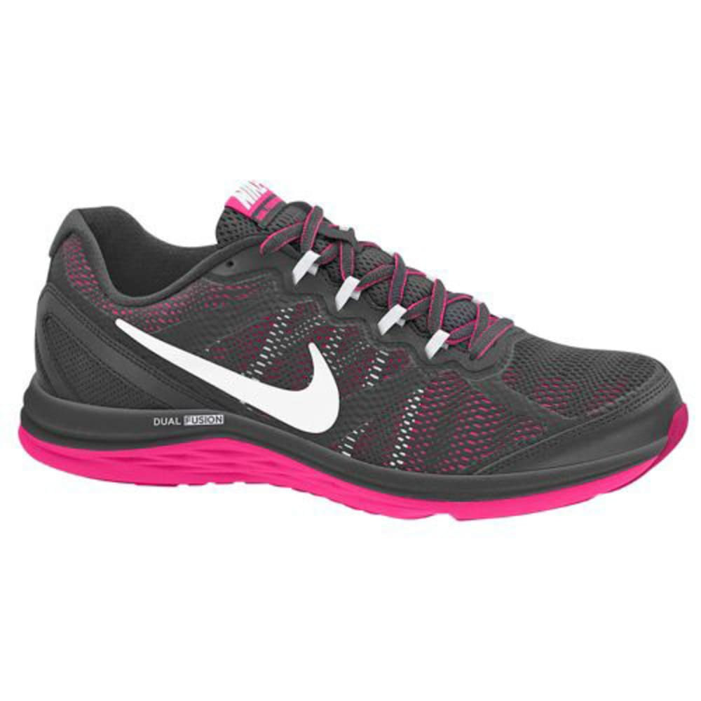 NIKE Women's Dual Fusion Run 3 Shoes - BLACK