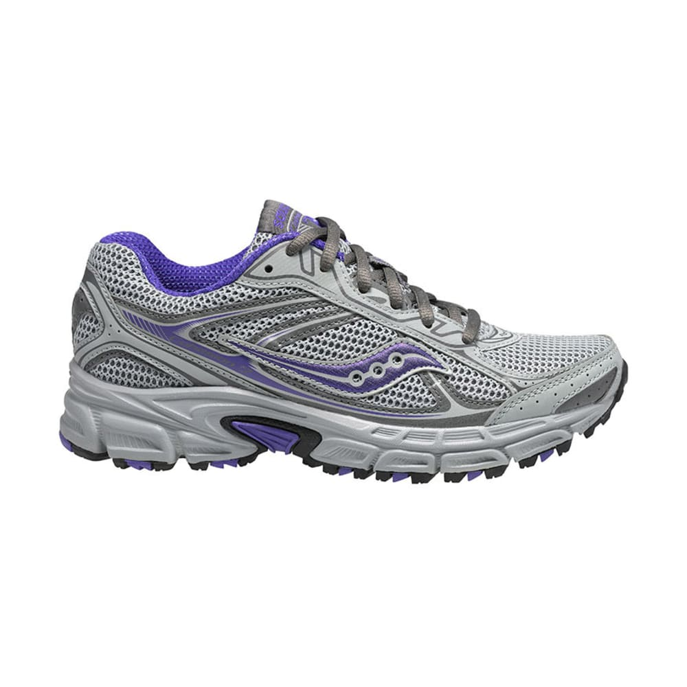 SAUCONY Women's Cohesion TR7 Shoes, Wide - GREY/SILVER/PURPLE