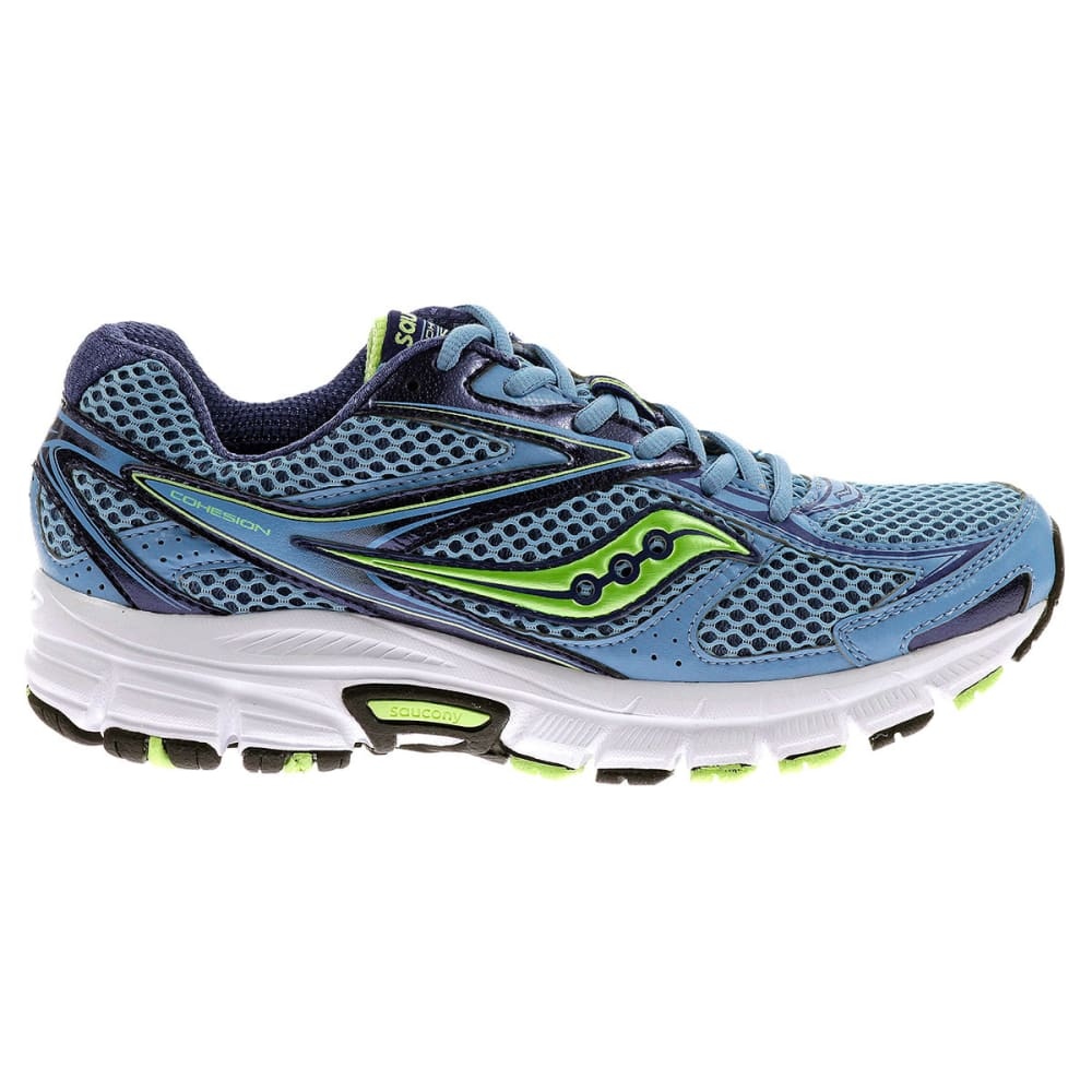 SAUCONY Women's Cohesion 8 Running Shoes, Wide - BLUE