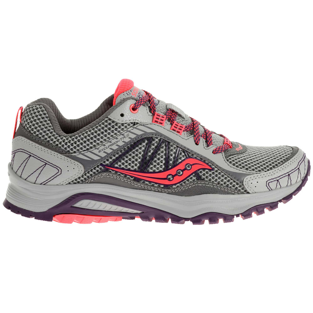 SAUCONY Women's Excursion TR9 Running Shoes, Wide Width - GREY/PLUM