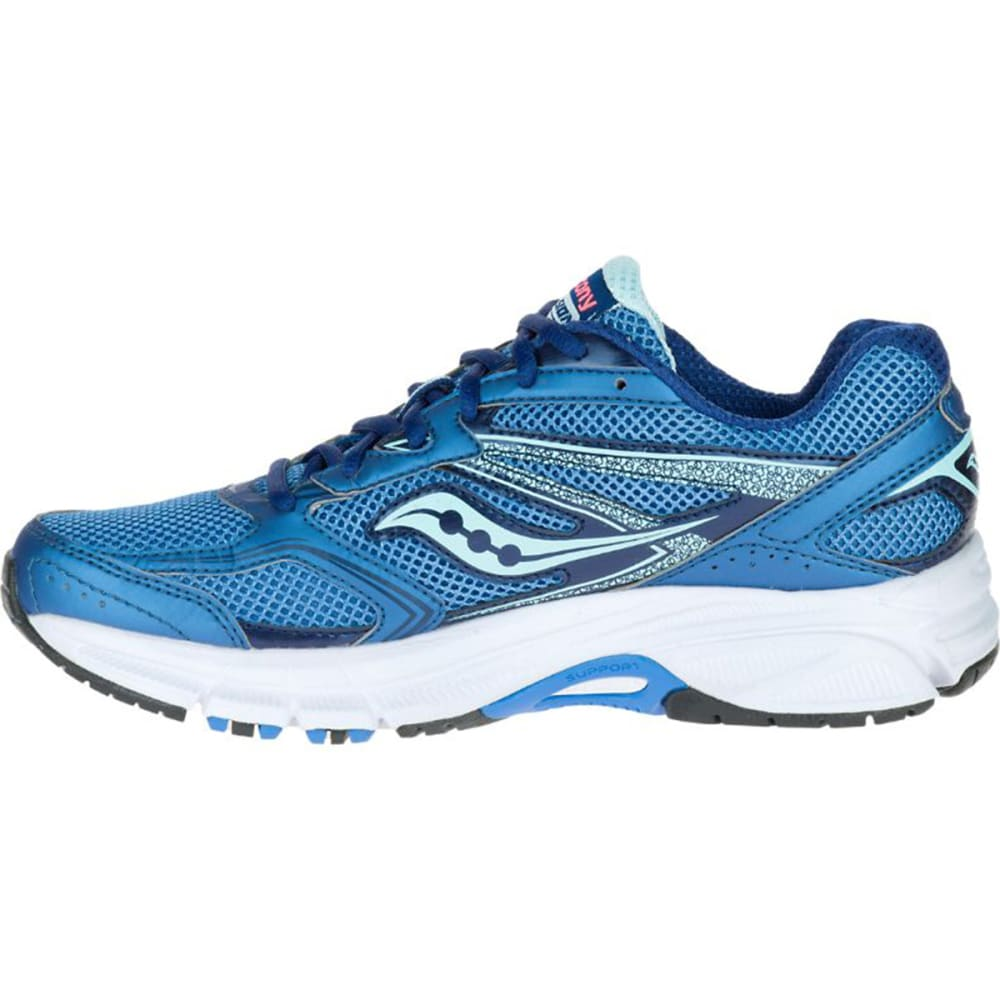 SAUCONY Women's Cohesion 9 Running Shoes, Medium - NAVY/CORAL