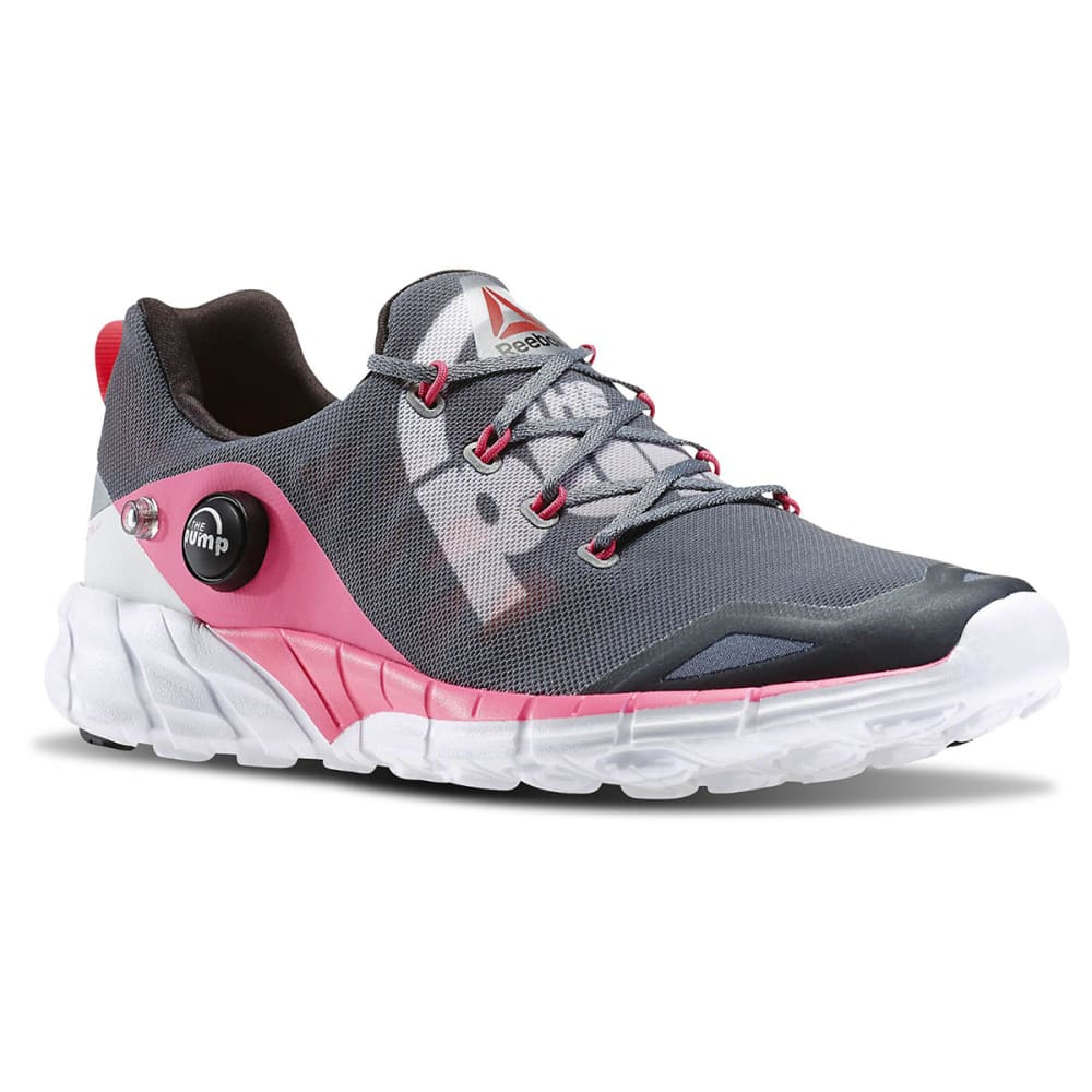 REEBOK Women's ZPump Fusion 2.0 Running Shoes - GREY/PINK