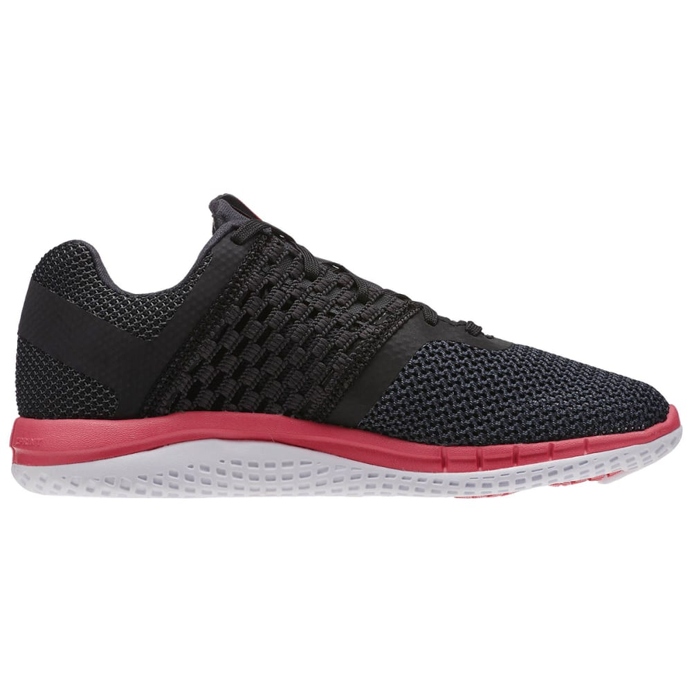 REEBOK Women's ZPrint Running Shoes - BLACK/GREY/PINK