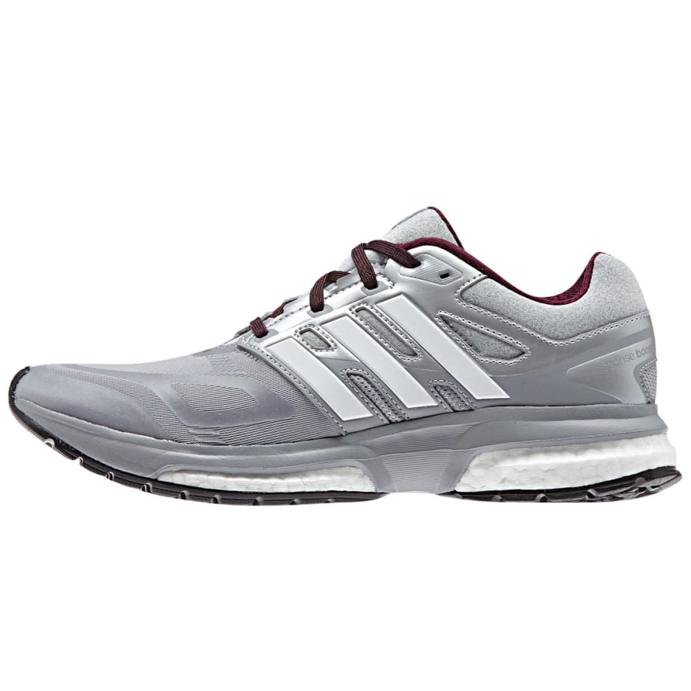 ADIDAS Women's Response Boost 2 Techfit Running Shoes - GREY/WHITE
