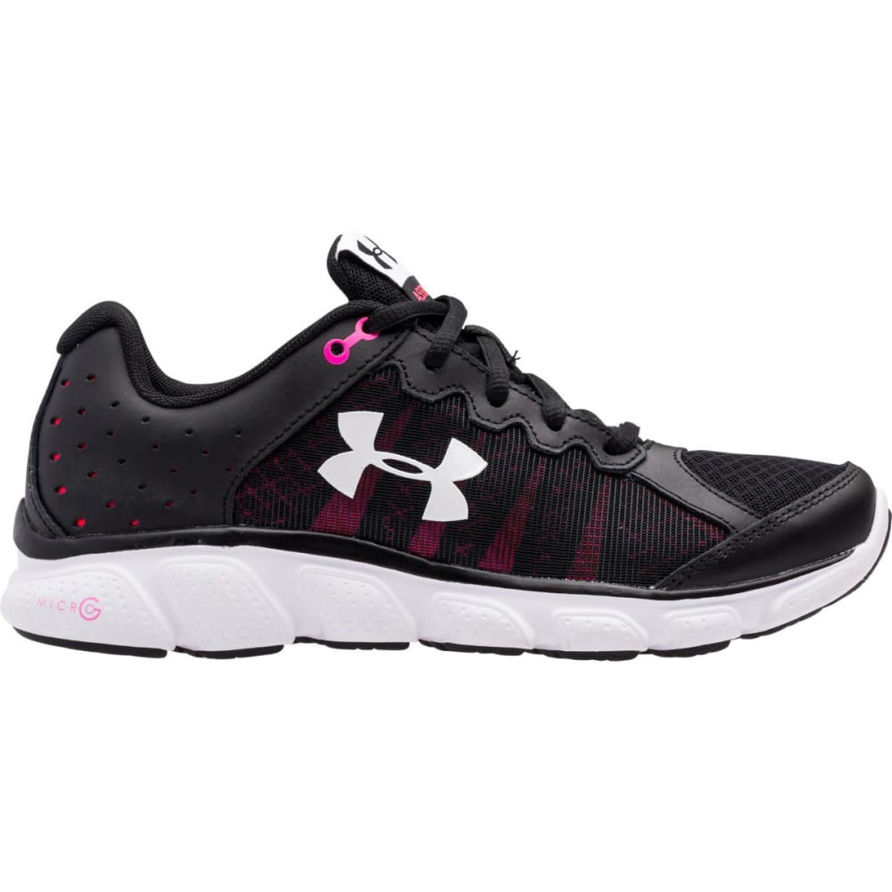 UNDER ARMOUR Women's Micro G Assert 6 Running Shoes - BLK/HARMONY RED