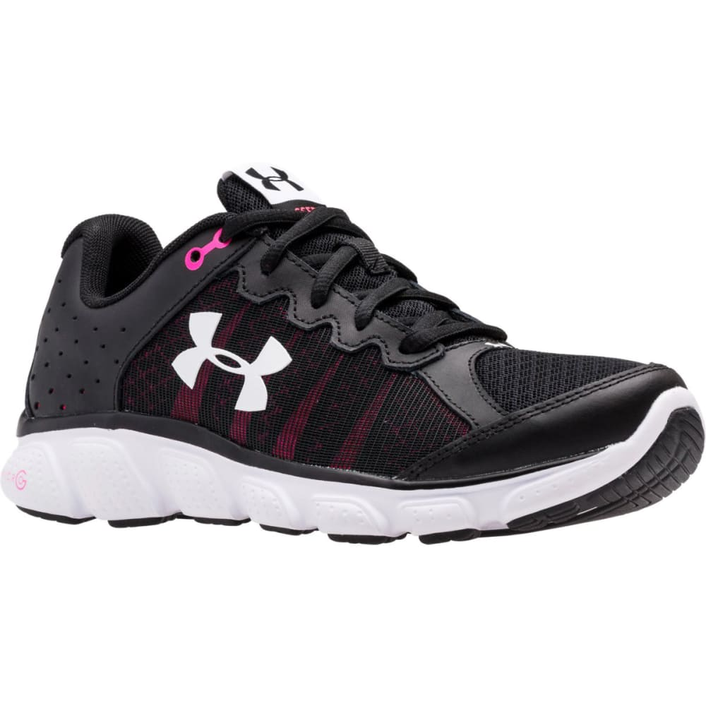 UNDER ARMOUR Women's Micro G® Assert 6 Running Shoes - BLK/HARMONY RED