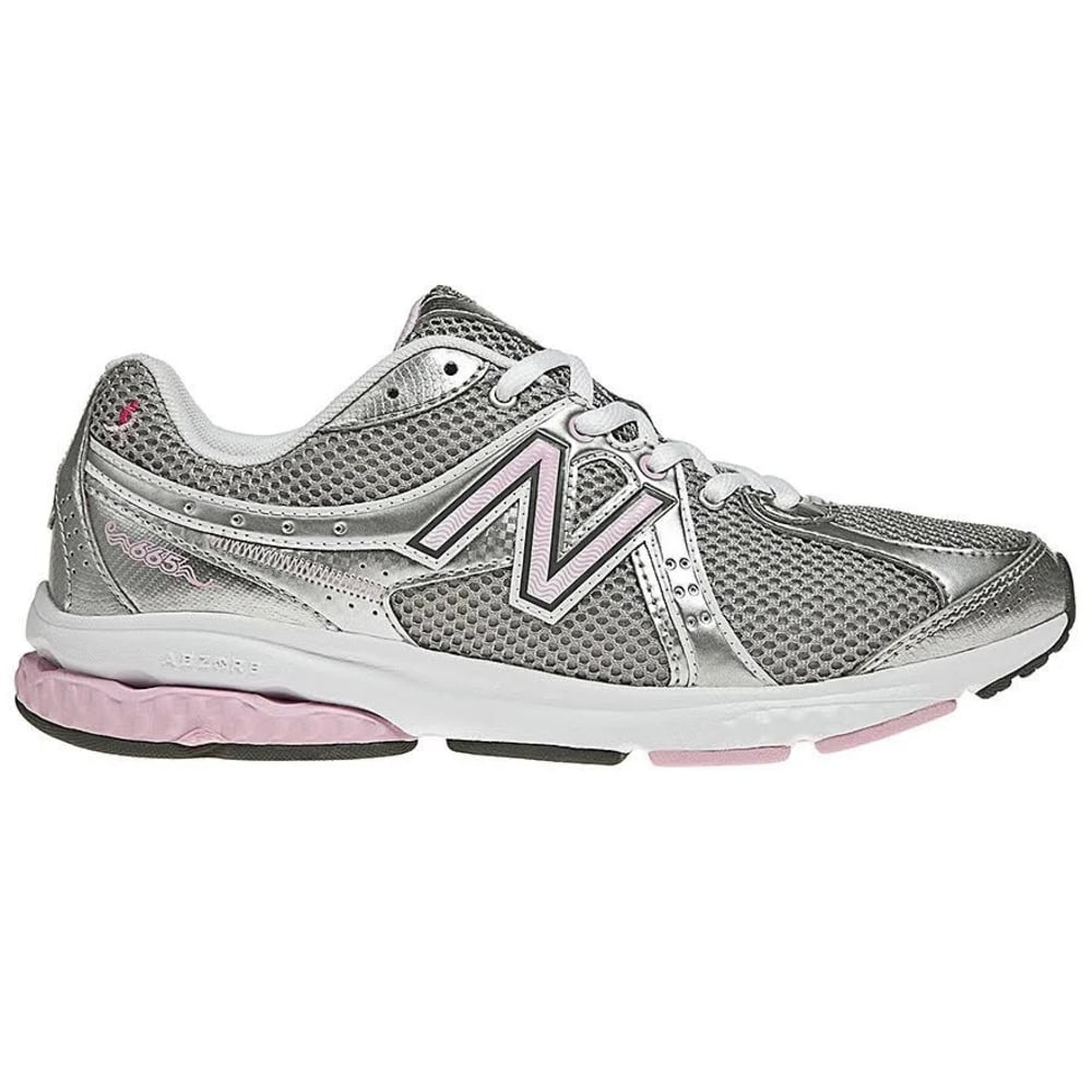 NEW BALANCE Women's 665 Komen Pink Ribbon Walking Shoes - WHITE/PERIWINKLE