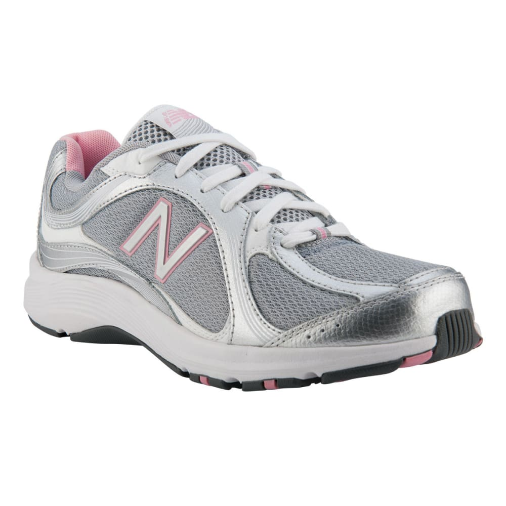 92e5904a40f9a NEW BALANCE Women's 496 Shoes, Wide Width - SILVER/PINK