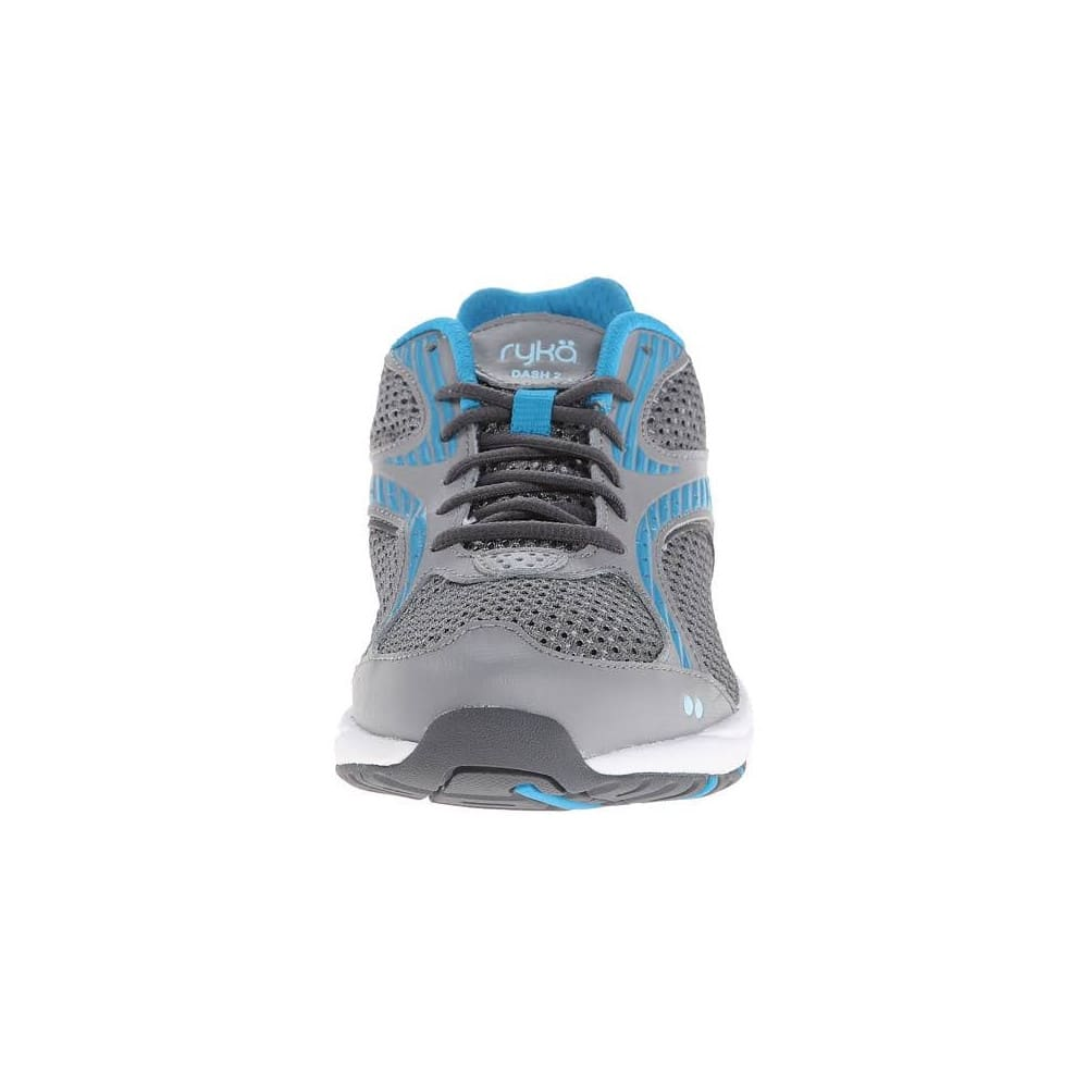 RYKA Women's Dash Wide Walking Shoe - WHITE/BLUE