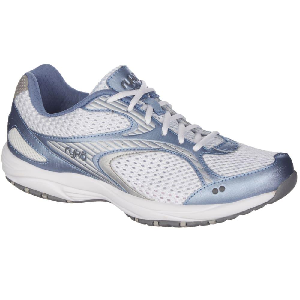 RYKA Women's Dash 2 Walking Shoes, Wide - WHITE/MIDNIGHT NAVY