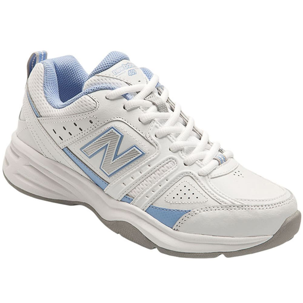 NEW BALANCE Women's 409 Training Shoes - WHITE/LT BLUE B MED