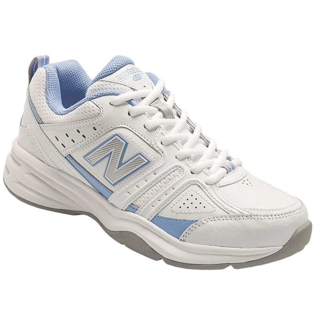 NEW BALANCE Women's 409 Training Shoes - WHITE/BLUE D WIDE
