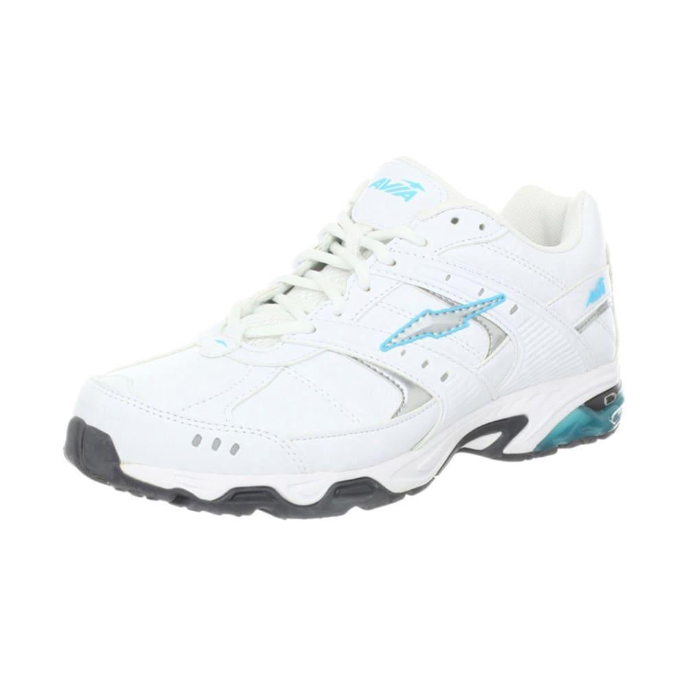 AVIA Women's Avi Phase Shoes, Wide, White/Silver/Blue/Grey - WHITE/BLUE