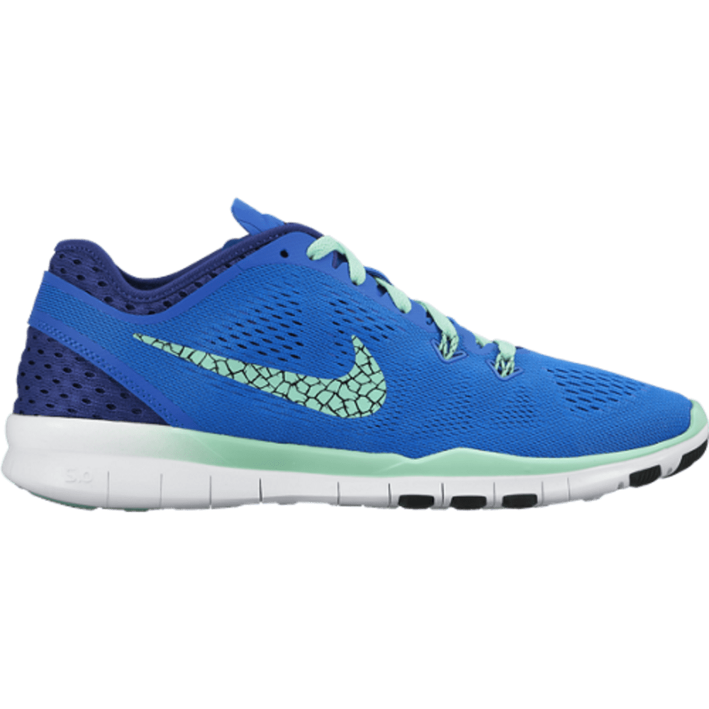 NIKE Women's Free 5.0 TR Fit 5 Breathe Training Shoes - BLUE