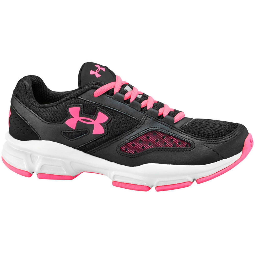 UNDER ARMOUR Women's Zone Sneakers - BLACK/PINK