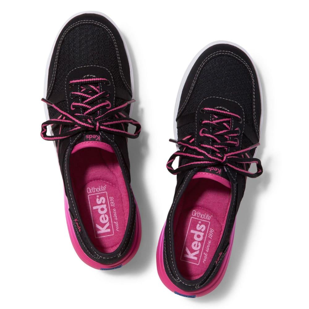 KEDS Women's Crosslite Lace Shoes - BLACK/PINK