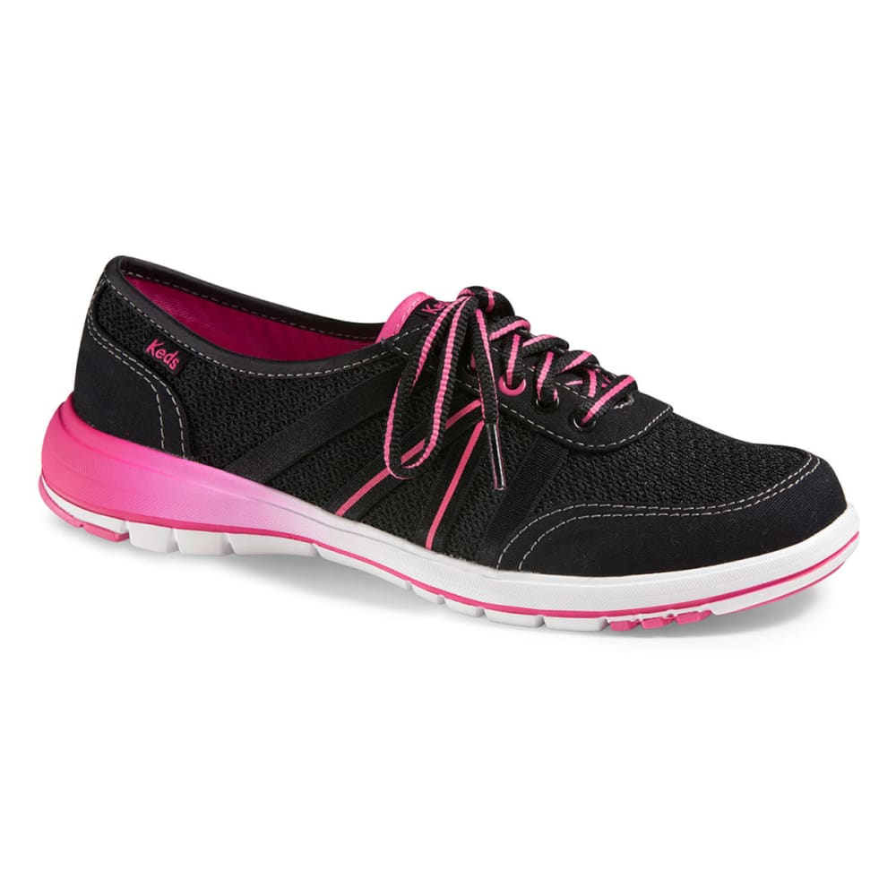 KEDS Women's Crosslite Lace Shoes - BLACK/PINK