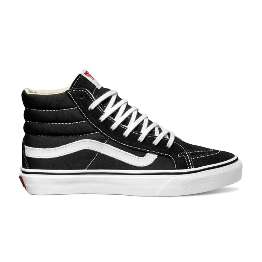 VANS Unisex SK8-Hi Slim Shoes - BLACK