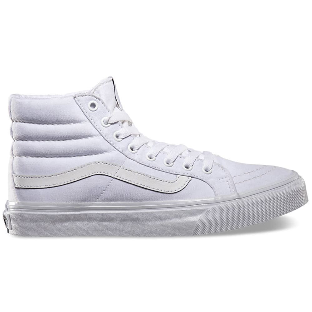 VANS Women's Sk8-Hi Slim Shoes - WHITE