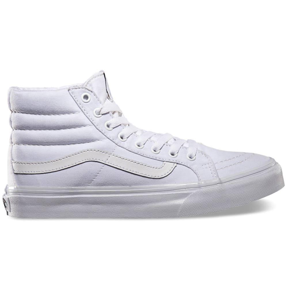 VANS Women's Sk8-Hi Slim Shoes - WHITE