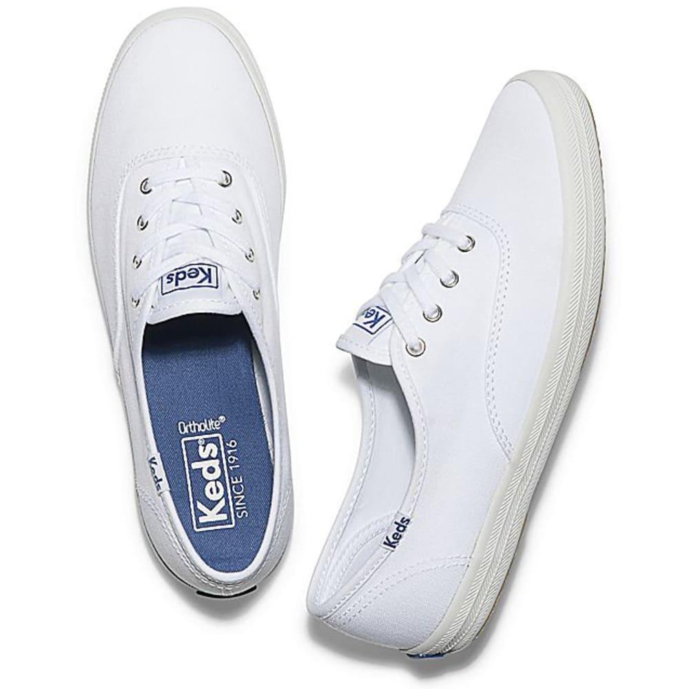 KEDS Women's Champion Oxford Canvas Shoes, Medium - WHITE-WF34000M