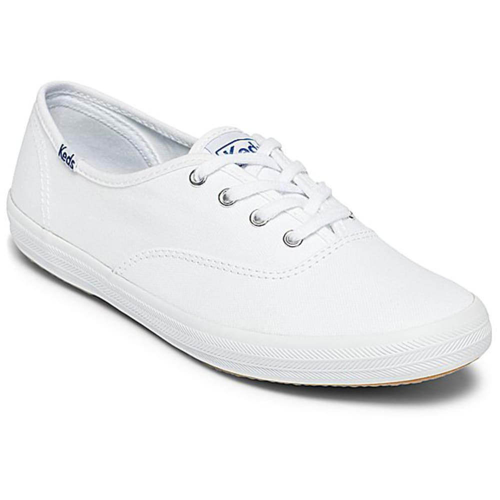KEDS Women's Champion Oxford Canvas Shoes, Medium - Premium - WHITE