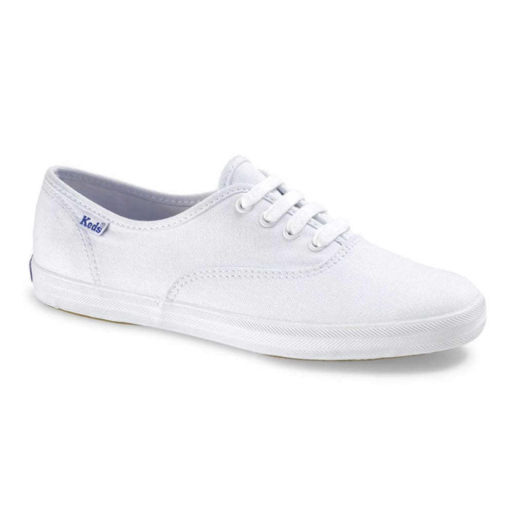 KEDS Women's Champion Oxford Canvas Shoes, Wide - WHITE