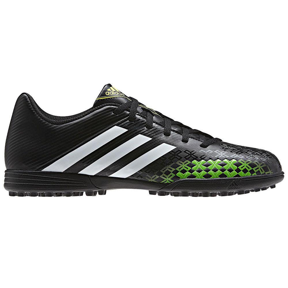 ADIDAS Men's Predito LZ TRX TF Turf Soccer Cleats, Black/Green - ONYX