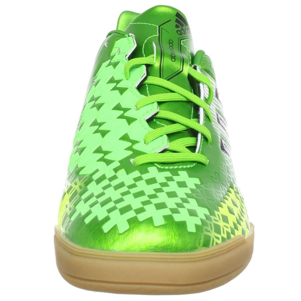ADIDAS Men's Predito LZ IN Indoor Soccer Shoes, Ray Green/Black/Electricity - ALGAE
